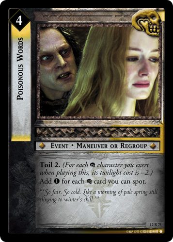 Poisonous Words (12R75) Card Image