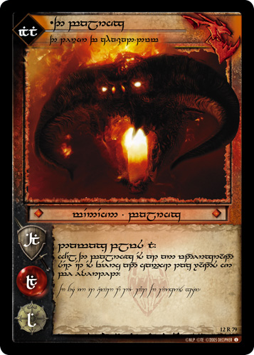 The Balrog, The Terror of Khazad-dum (T) (12R79T) Card Image