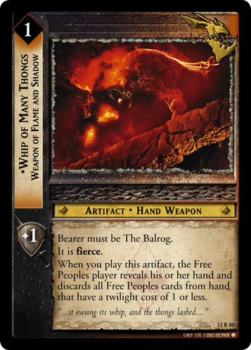 Whip of Many Thongs, Weapon of Flame and Shadow (12R80) Card Image