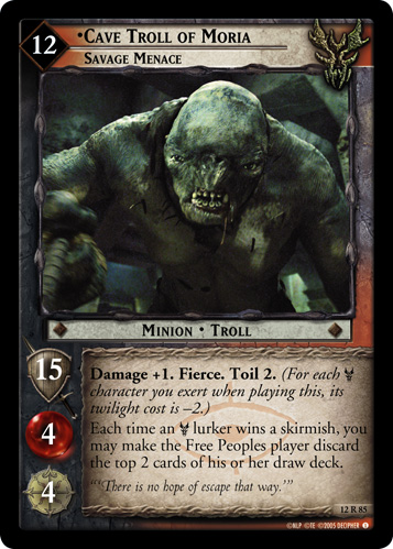 Cave Troll of Moria, Savage Menace (12R85) Card Image