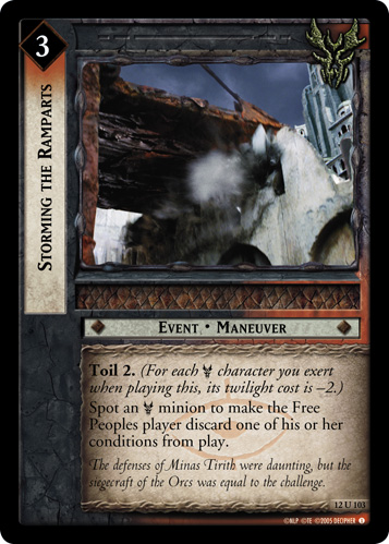 Storming the Ramparts (12U103) Card Image