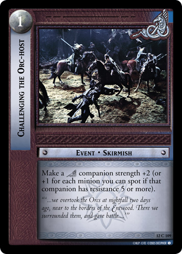Challenging the Orc-host (12C109) Card Image