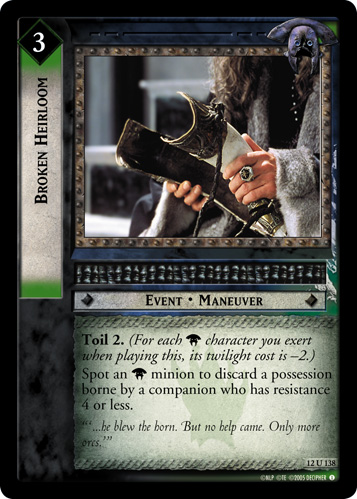 Broken Heirloom (12U138) Card Image
