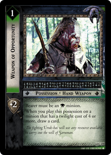 Weapon of Opportunity (12C159) Card Image