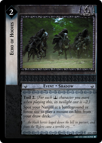 Echo of Hooves (12C164) Card Image