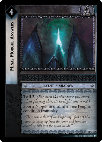 Minas Morgul Answers (12U167) Card Image