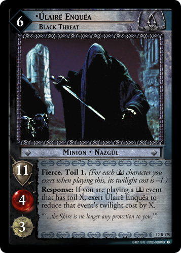 Ulaire Enquea, Black Threat (12R175) Card Image