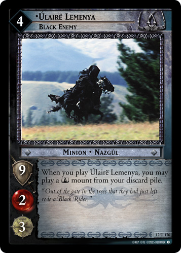 Ulaire Lemenya, Black Enemy (12U176) Card Image