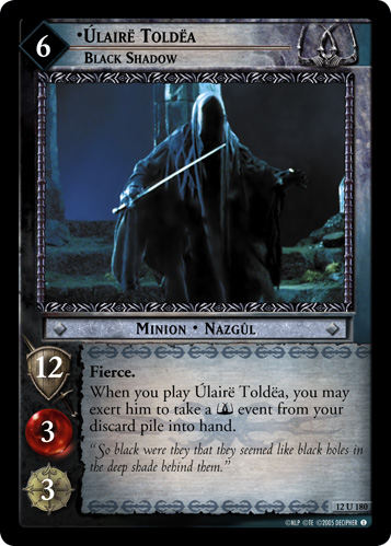 Ulaire Toldea, Black Shadow (12U180) Card Image
