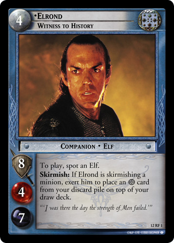 Elrond, Witness to History (F) (12RF1) Card Image
