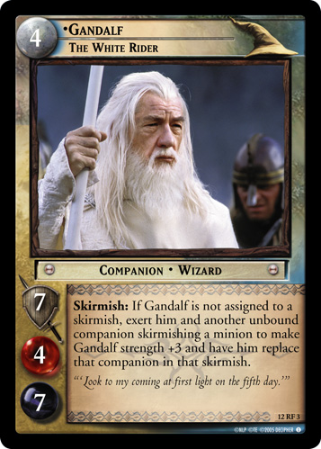 Gandalf, The White Rider (F) (12RF3) Card Image