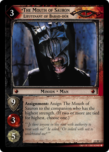 The Mouth of Sauron, Lieutenant of Barad-dur (F) (12RF11) Card Image