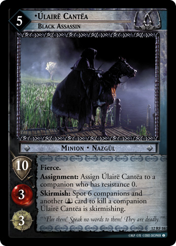 Ulaire Cantea, Black Assassin (F) (12RF16) Card Image
