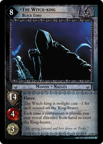 The Witch-king, Black Lord (F) (12RF18) Card Image