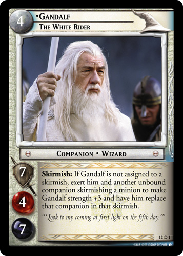 Gandalf, The White Rider (O) (12O1) Card Image