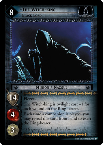 Lotr Tcg Wiki The Witch King Black Lord O 12o9