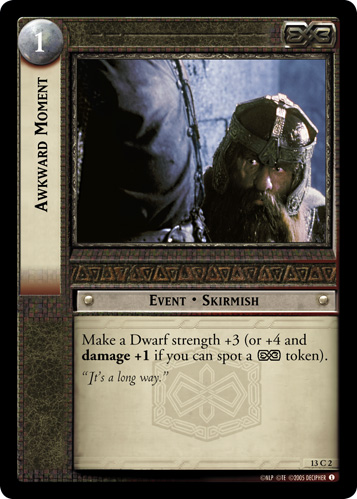 Awkward Moment (13C2) Card Image