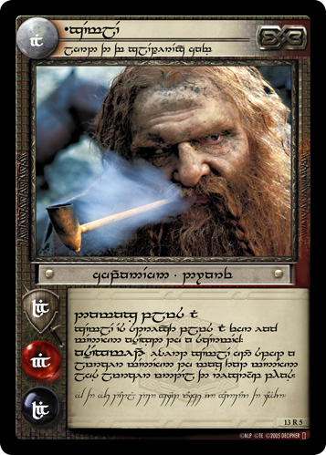 Gimli, Lord of the Glittering Caves (T) (13R5T) Card Image