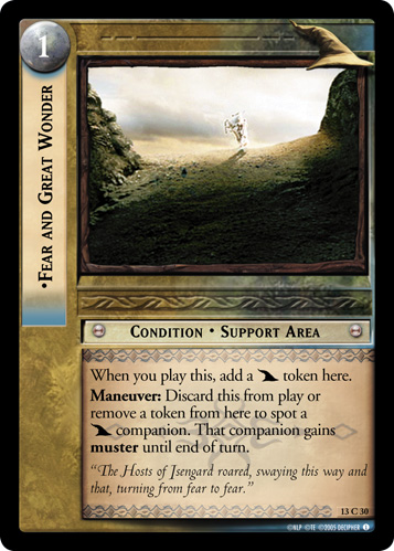 Fear and Great Wonder (13C30) Card Image