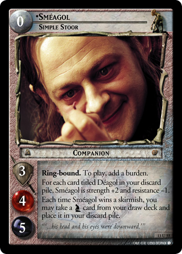 Smeagol, Simple Stoor (13U55) Card Image