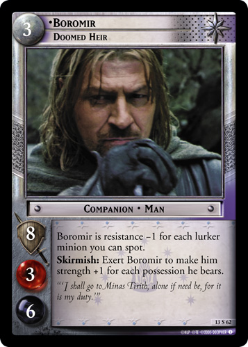 Boromir, Doomed Heir (13S62) Card Image