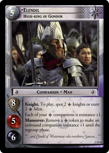 Elendil, High-King of Gondor (13R65) Card Image