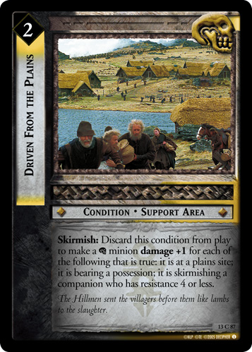 Driven From the Plains (13C87) Card Image