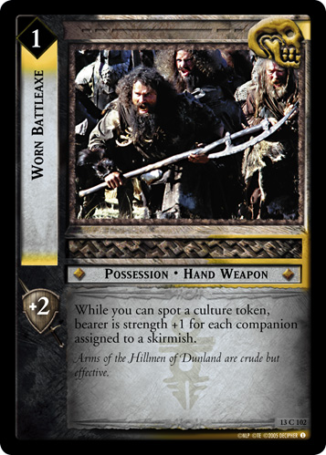Worn Battleaxe (13C102) Card Image
