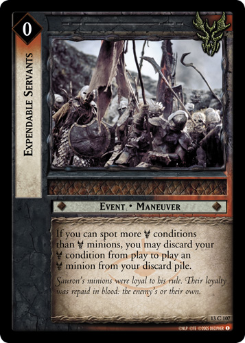 Expendable Servants (13C107) Card Image
