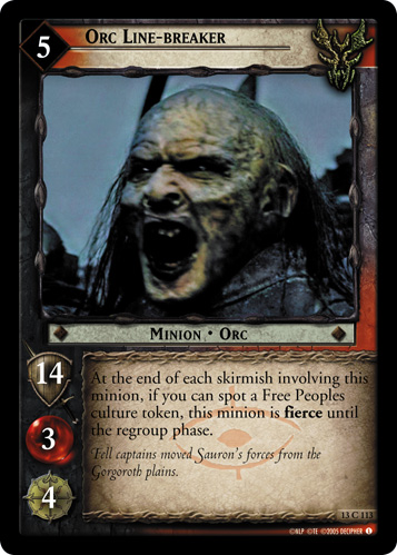 Orc Line-breaker (13C113) Card Image