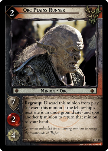 Orc Plains Runner (13S114) Card Image
