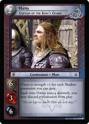 Hama, Captain of the King's Guard (13U128) Card Image