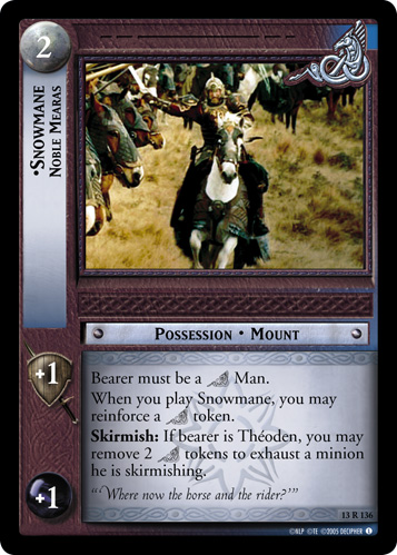 Snowmane, Noble Mearas (13R136) Card Image