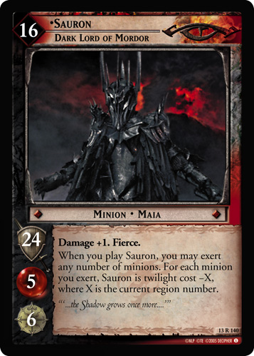 Sauron, Dark Lord of Mordor (13R140) Card Image