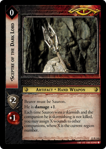 Sceptre of the Dark Lord (13R141) Card Image