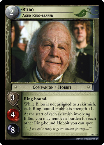 Bilbo, Aged Ring-bearer (13R142) Card Image