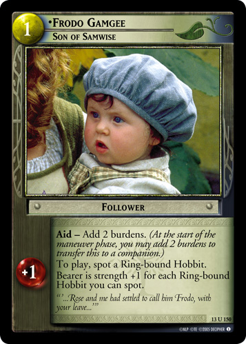 Frodo Gamgee, Son of Samwise (13U150) Card Image