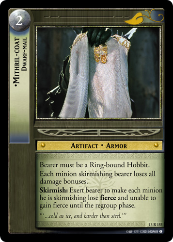 Mithril-coat, Dwarf-mail (13R153) Card Image