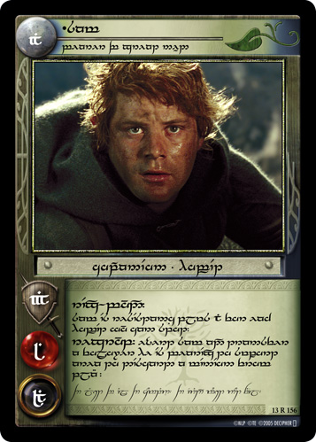 Sam, Bearer of Great Need (T) (13R156T) Card Image