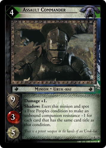 Assault Commander (13R158) Card Image