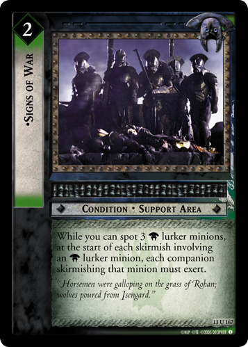 Signs of War (13U167) Card Image