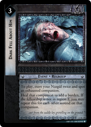 Dark Fell About Him (13R178) Card Image