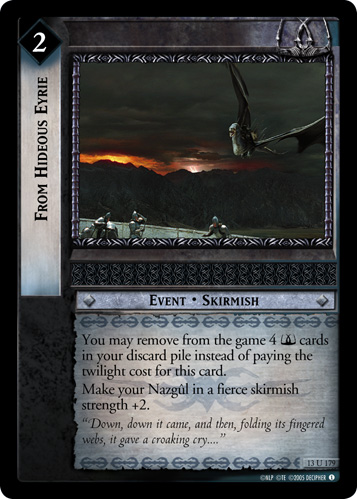 From Hideous Eyrie (13U179) Card Image