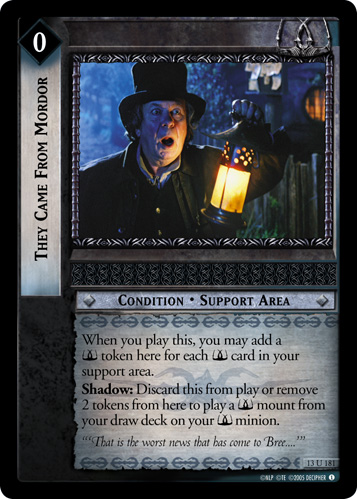 They Came From Mordor (13U181) Card Image