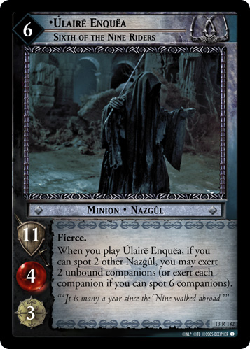 Ulaire Enquea, Sixth of the Nine Riders (13R182) Card Image