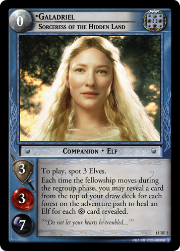Galadriel, Sorceress of the Hidden Land (F) (13RF2) Card Image