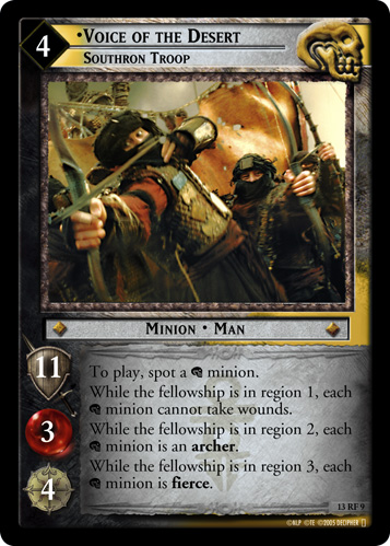 Voice of the Desert, Southron Troop (F) (13RF9) Card Image