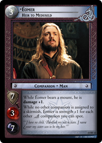 Eomer, Heir to Meduseld (F) (13RF12) Card Image