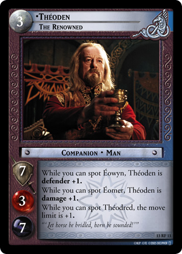 Theoden, The Renowned (F) (13RF13) Card Image