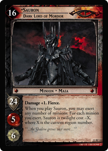 Sauron, Dark Lord of Mordor (F) (13RF14) Card Image